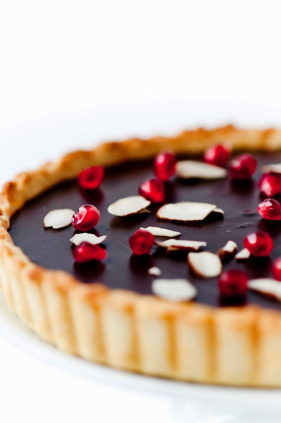 Orange Pomegranate Almond Dark Chocolate Tart | Best Recipes Ever