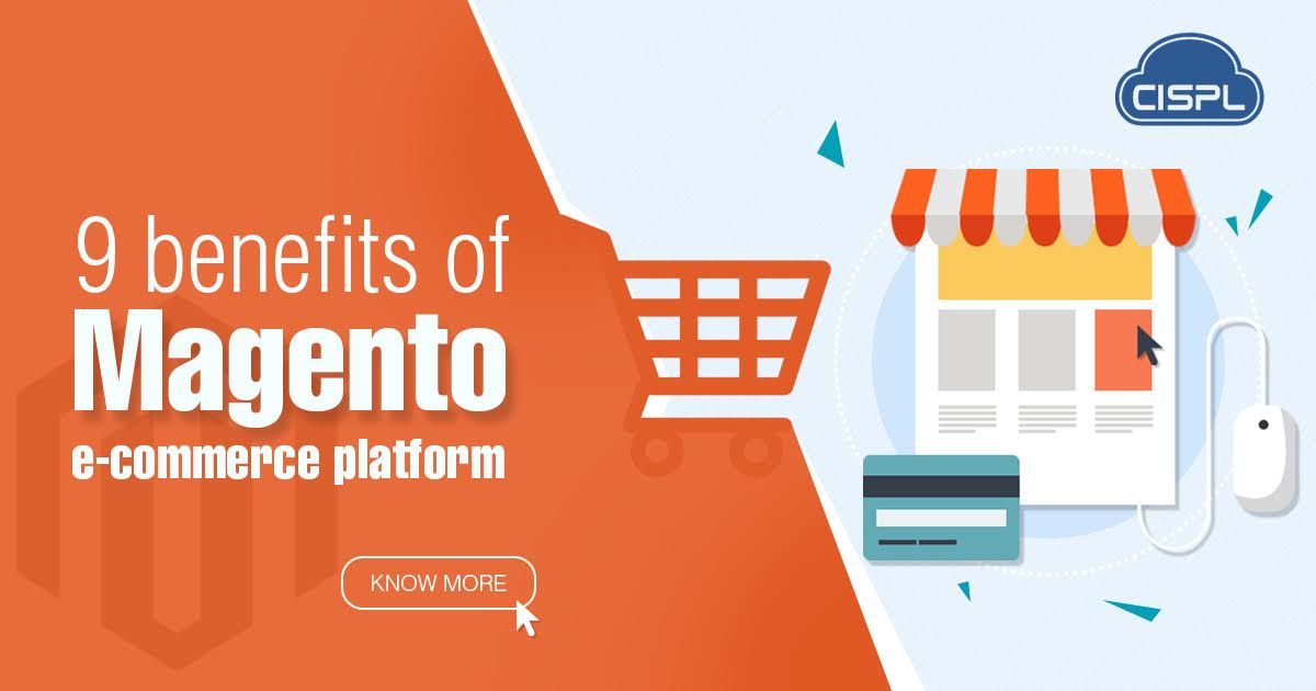 Magento offers many variations in creating an eCommerce application. With Magento you can customize and integrate the website as well. This article is about the 9 benefits of using Magento as the CMS platform to create an eCommerce website. #Magento_Benefits #CodeClouds
