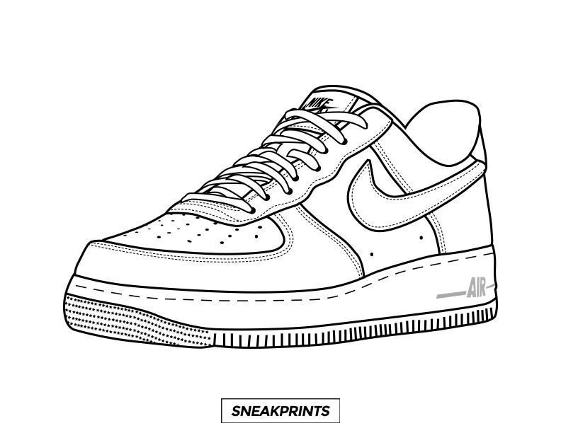 Free sneakprints sneaker coloring pages in 2020