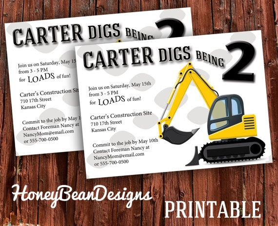 Pin By Michelle Payne On Printables Construction Birthday Parties Construction Birthday Birthday Party Invitations