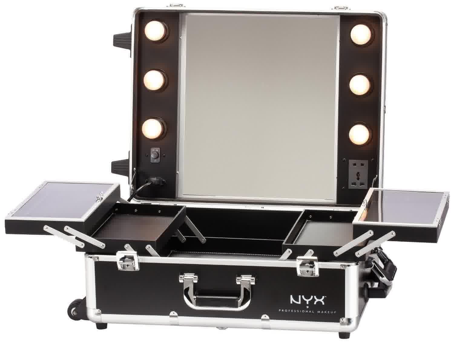 How To Build A Portable Makeup Vanity With Lights Makeup Storage Mirror Makeup Mirror With Lights Black Makeup Vanity With Lights