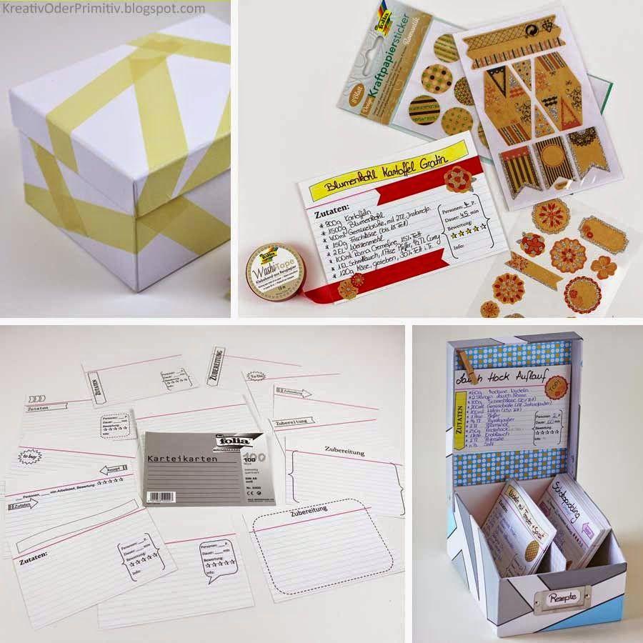 Rezeptbox, selber machen, DIY, Rezept, free printable, Format ...