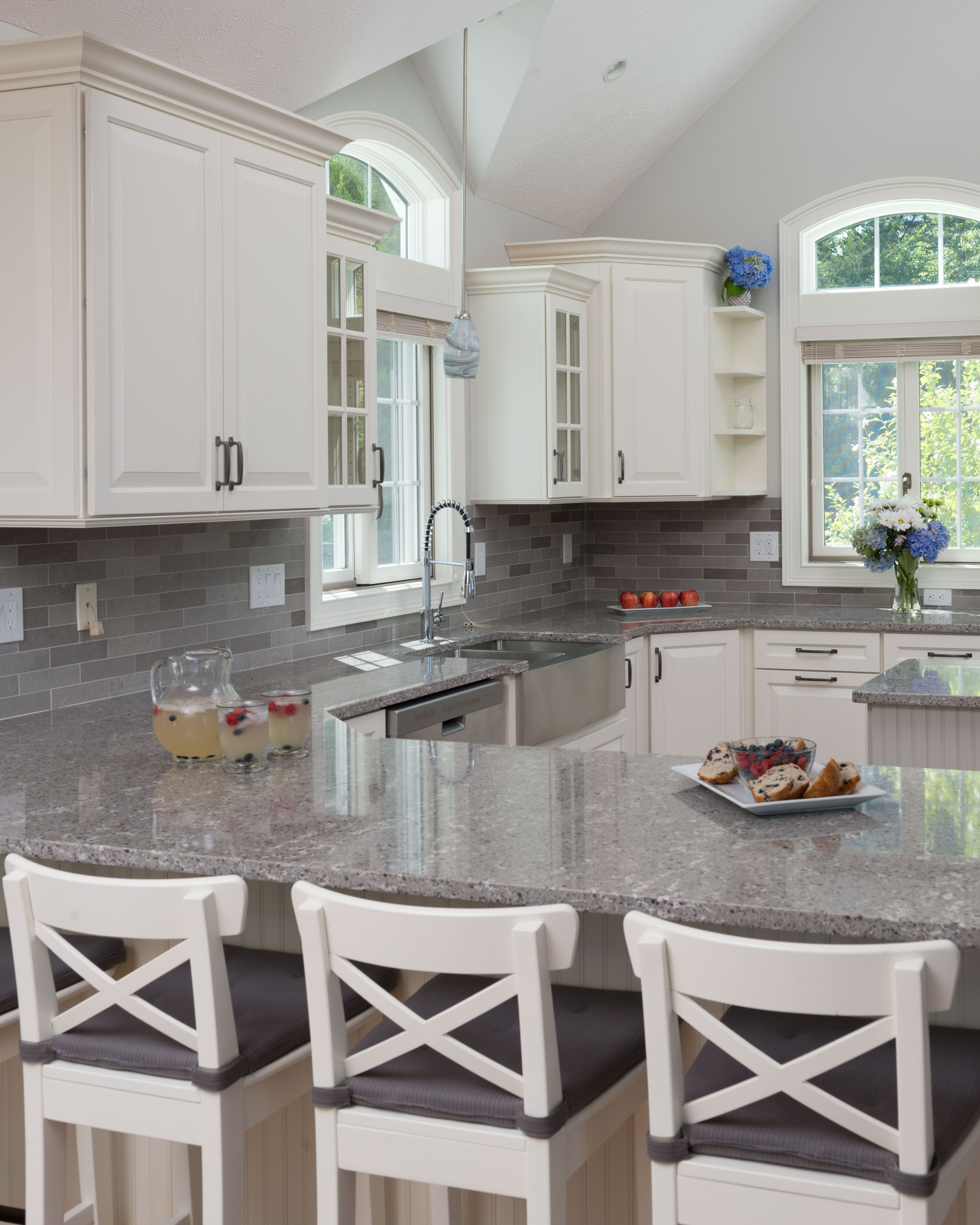 Kitchen In Rindge Nh Because We Knew This Kitchen Was Going To Be Heavily Used We Guided Our Clients Toward Cambria Quar Kitchen Remodel Countertops Kitchen
