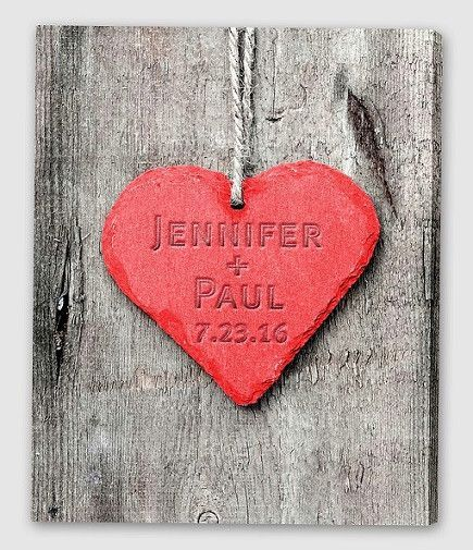 NEW Embossed Heart Canvas Sign