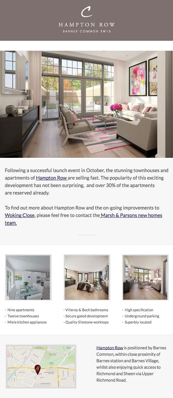 Hampton Row Campaign Monitor Email Design Inspiration Web Design Marketing Email Design