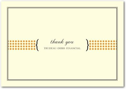 business thank you cardssimple message dotsbrackets would be – Business Thank You Card Template