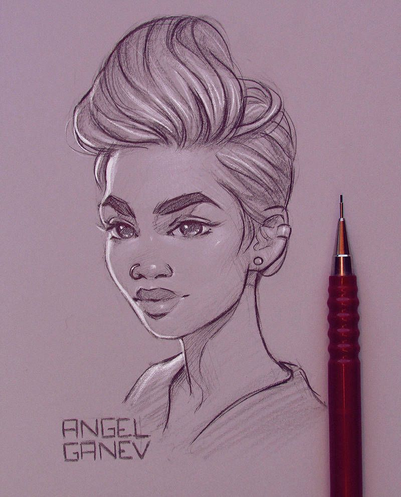 Evanie Day 189 By Angelganev Drawing People Sketches Art Sketches