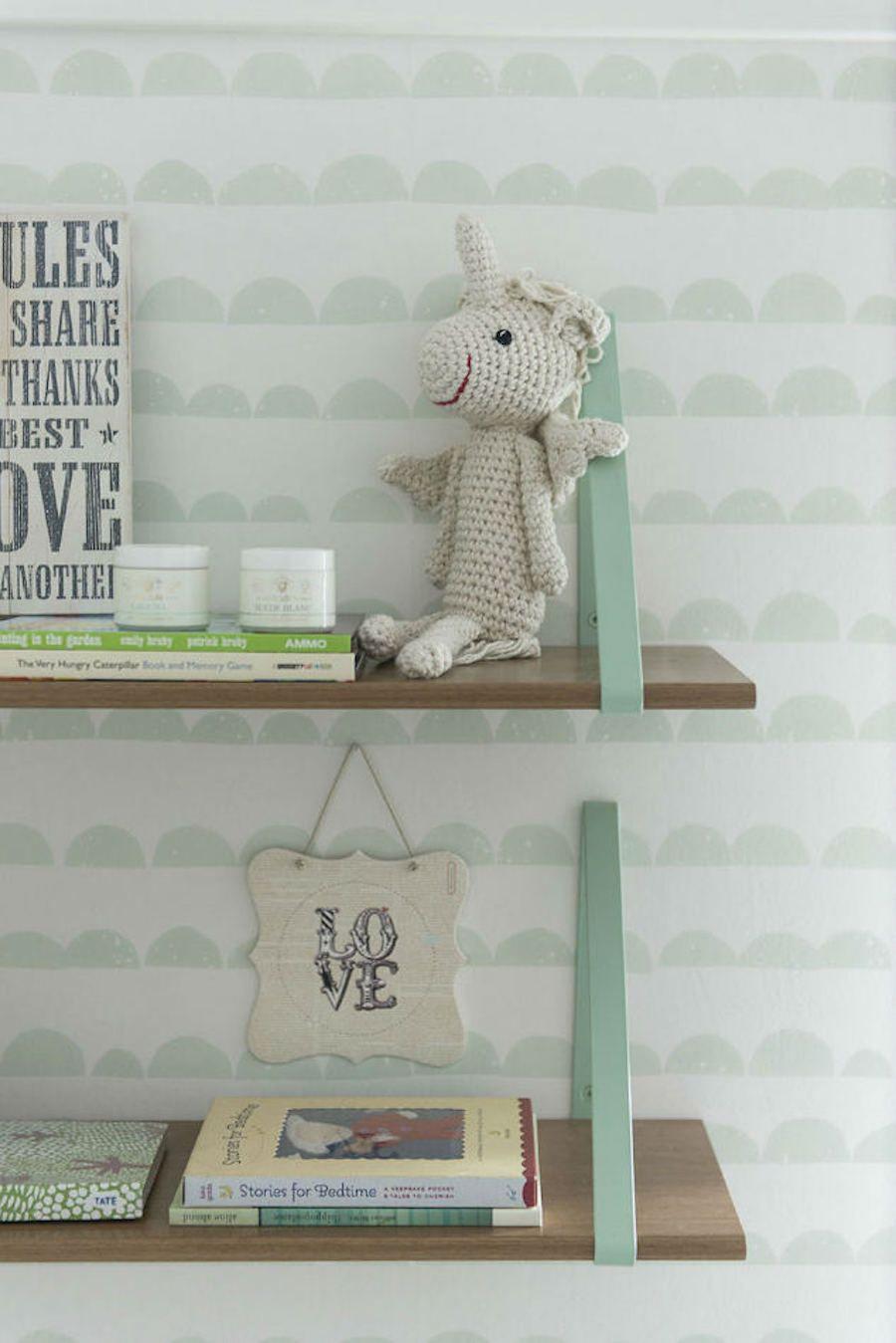tienda online telas & papel | Dulce dormitorio de bebe color verde menta