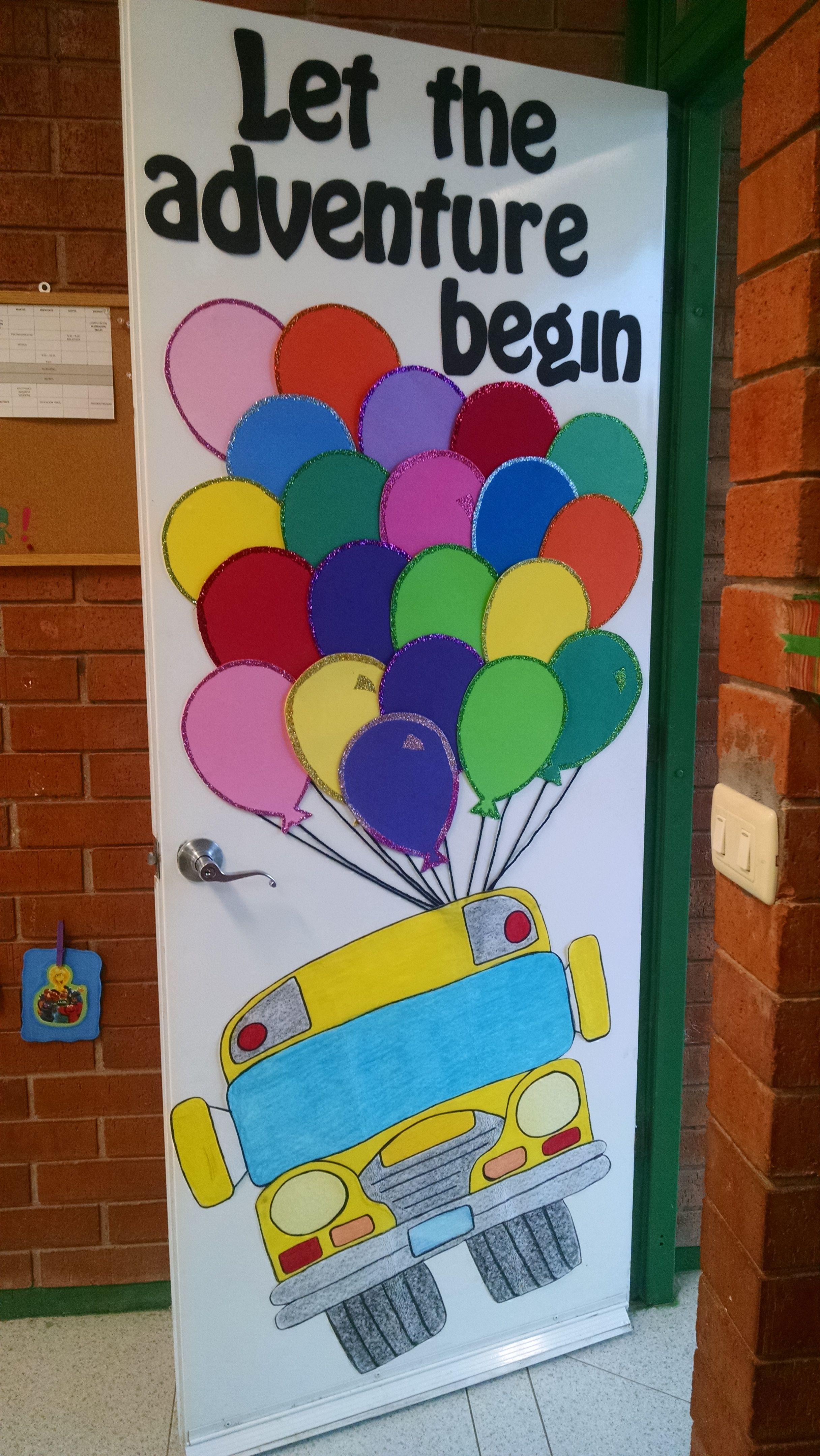 Puerta de bienvenida decoraci puerta de bienvenida for Decoracion de puertas escolares