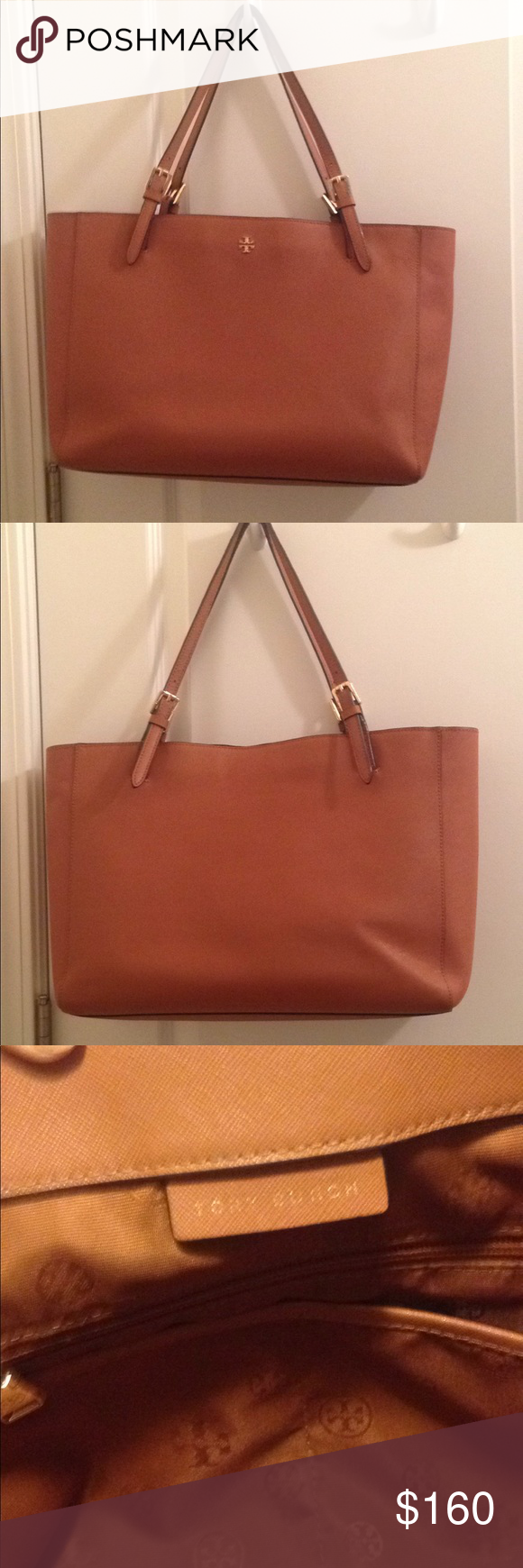 29798d64acd Tory Burch Safiano Leather large Tote Handbag!! Used condition!! The straps  shows