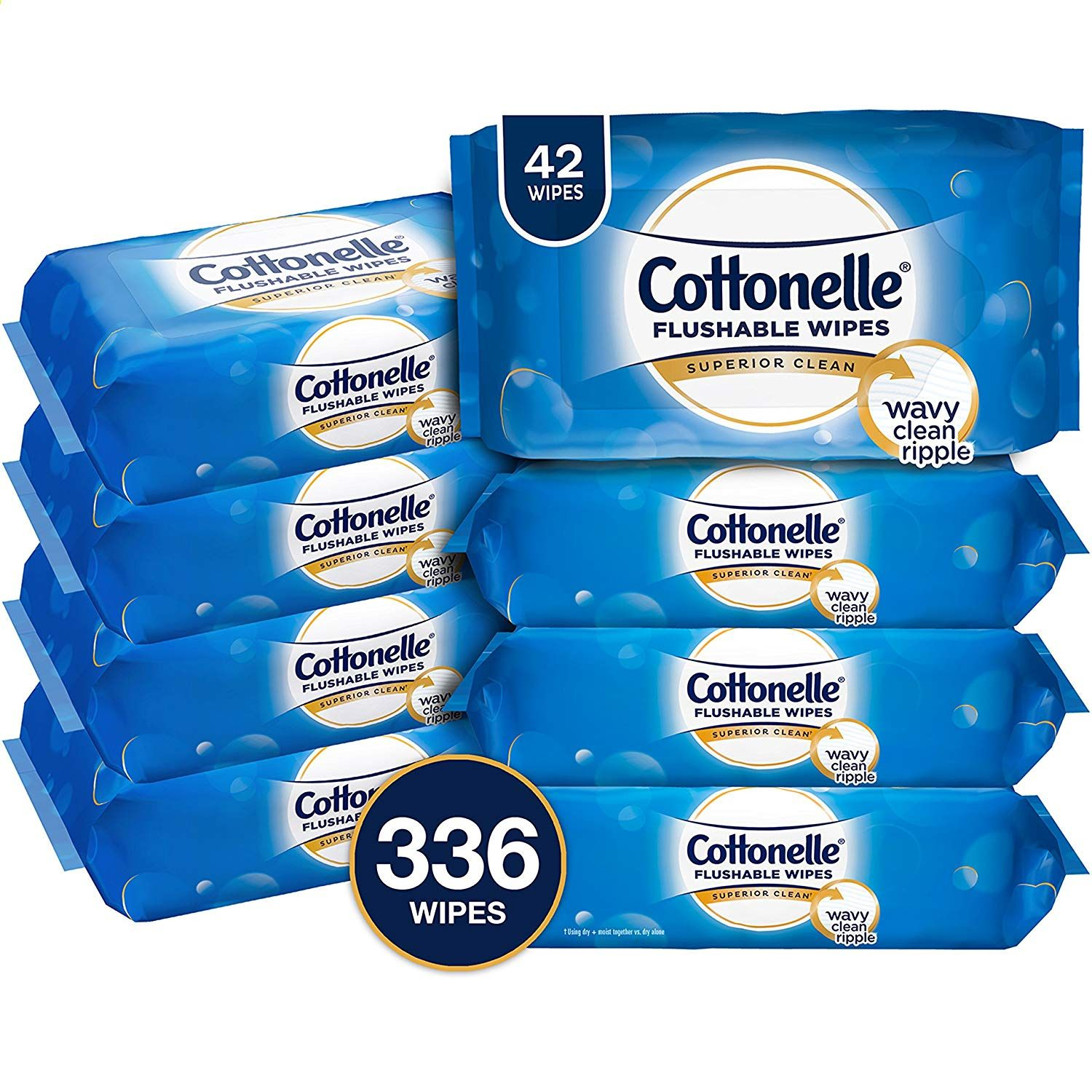Cottonelle FreshCare Flushable Cleansing Cloths 336 Wipes