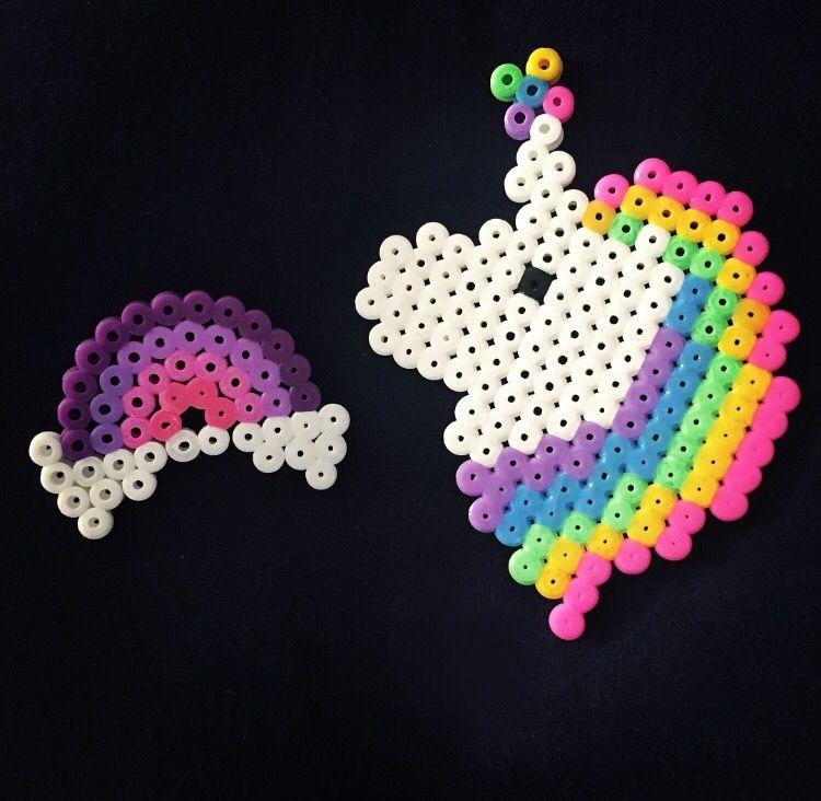 b gelperlen regenbogen und einhorn zum nachmachen diy b gelperlen unicorn rainbow iron beads. Black Bedroom Furniture Sets. Home Design Ideas