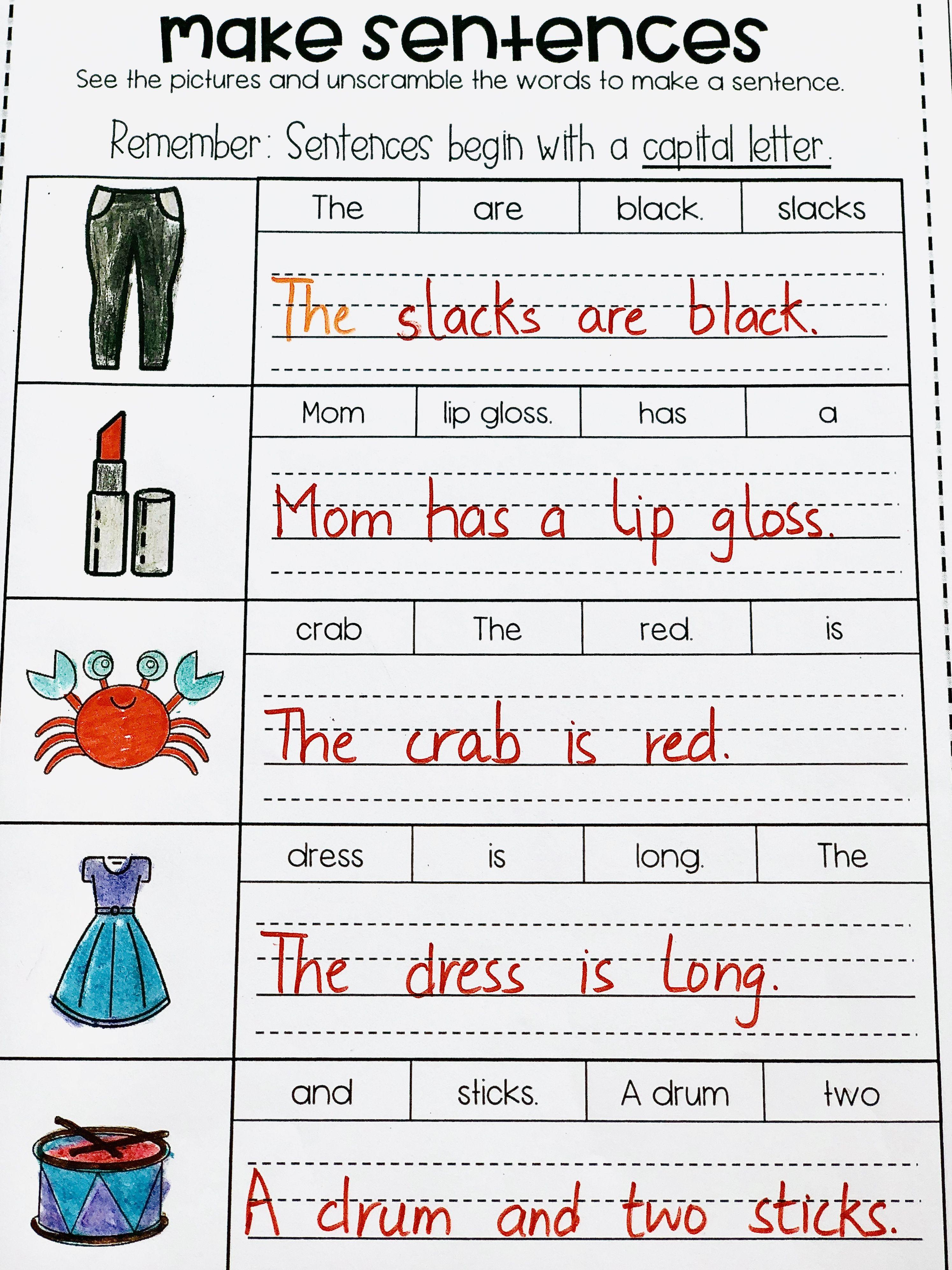 Free Build The Consonant Blend Sentences