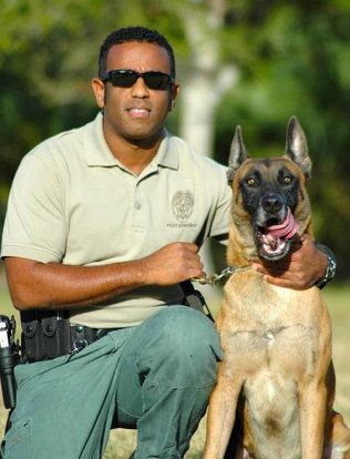 Miami Dale Police Officer Andy Giordani And His K9 Partner