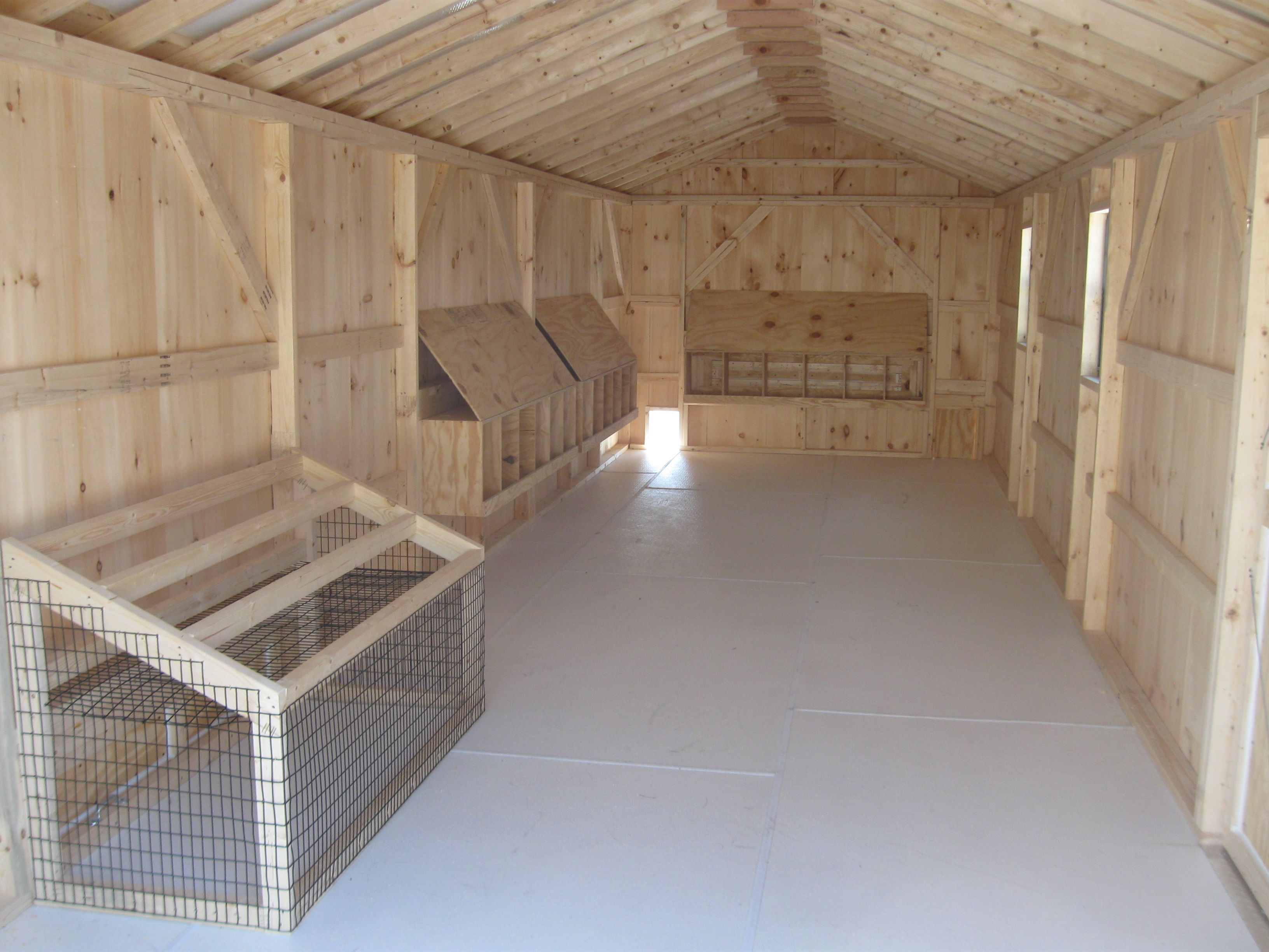 Look At The Inside Of One Of Our Larger Coops You Can See The