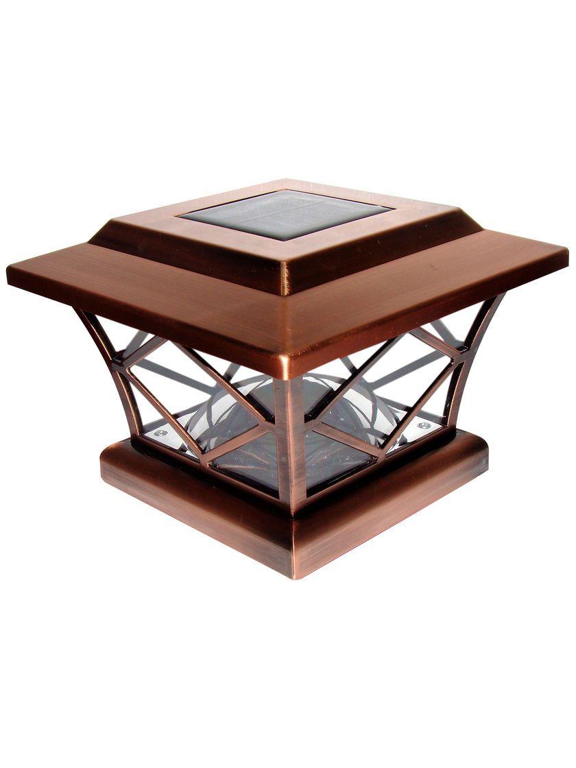 Solar Post Cap Lights Craftsman 4x4 Or 5x5 Copper Solar Post Cap Solar Post Caps Solar Lights Fence Lighting