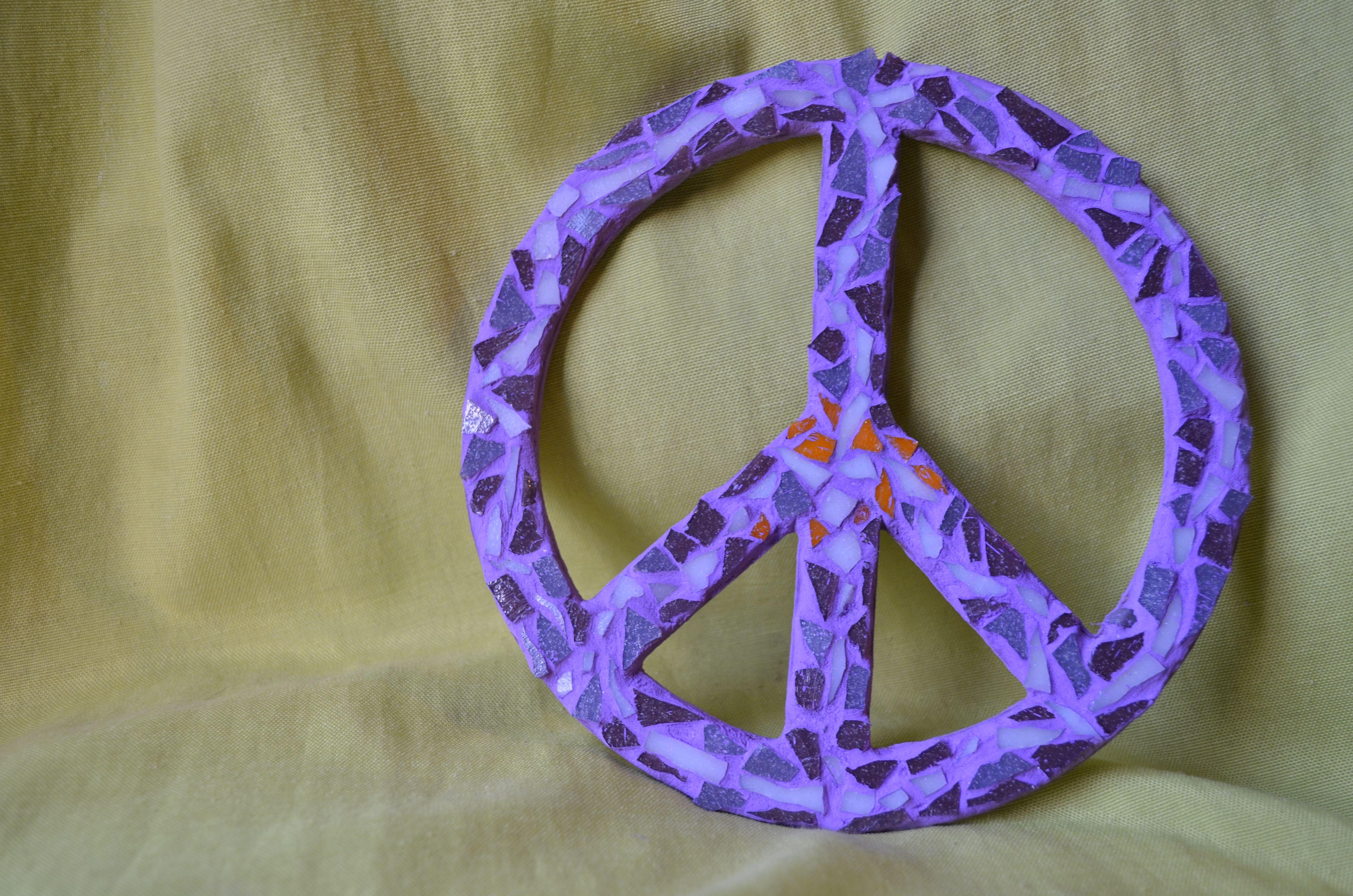 Simbolo de la Paz mini en violeta