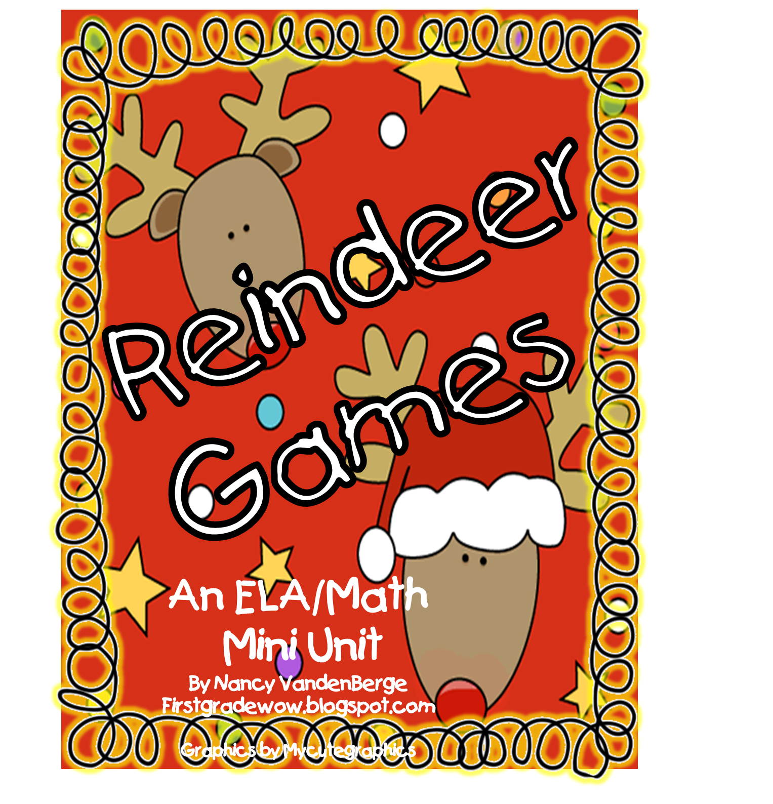 Sharing My Reindeer Games Mini Unit Free First Grade Wow