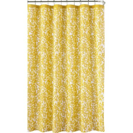 Add a splash of style to your master bath or guest suite with this eye-catching shower curtain, featuring a painterly print in yellow. ...
