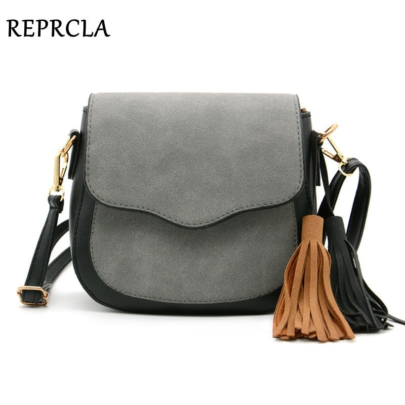 fda498eed0 REPRCLA New Vintage Women Bags Tassel Shoulder Bag Designer Matte PU Women  Messenger Bags Crossbody High