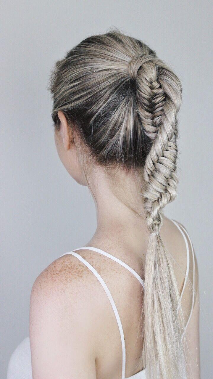 Dna Braid Hair Tutorial Alex Gaboury Braided Ponytail Hairstyles Braided Hairstyles Long Hair Styles