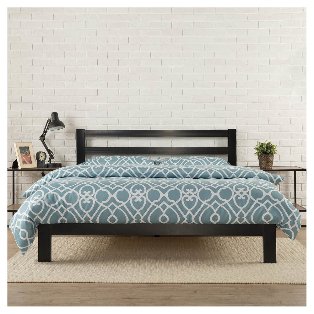 Modern Studio Metal Platform Bed 2000 with Headboard