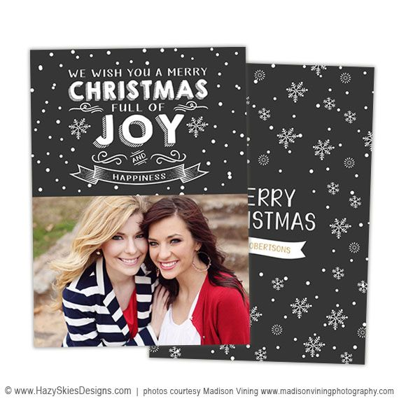Christmas Card Template For Photographers Photography Card