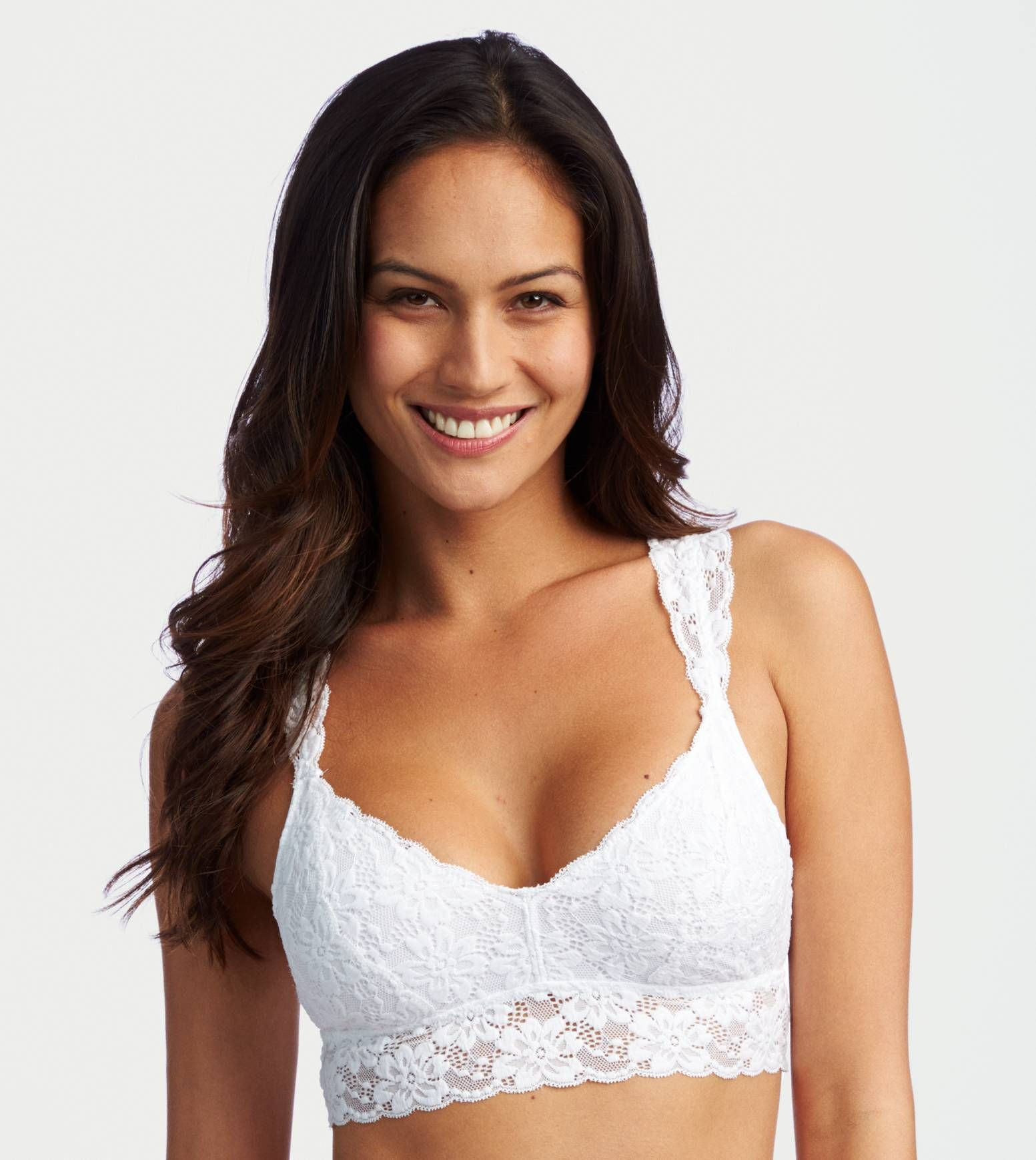 9c001244aa White Aerie Softest Lace Bralette - Softest lace in a pretty shape!  Aerie