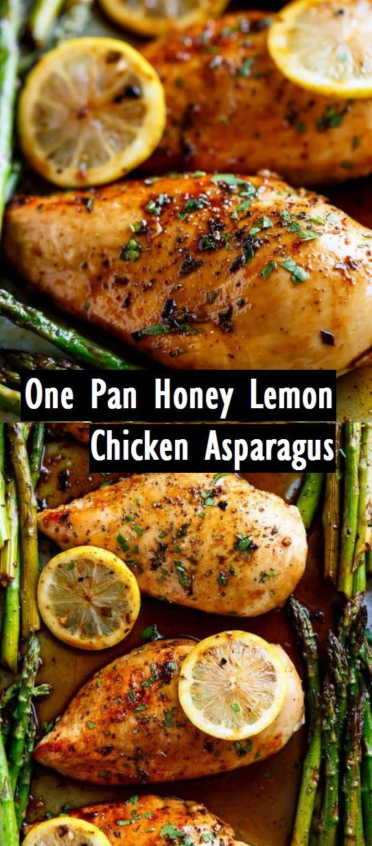 One Pan Honey Lemon Chicken Asparagus - Recipes Made Easy   - Recipes to Cook -