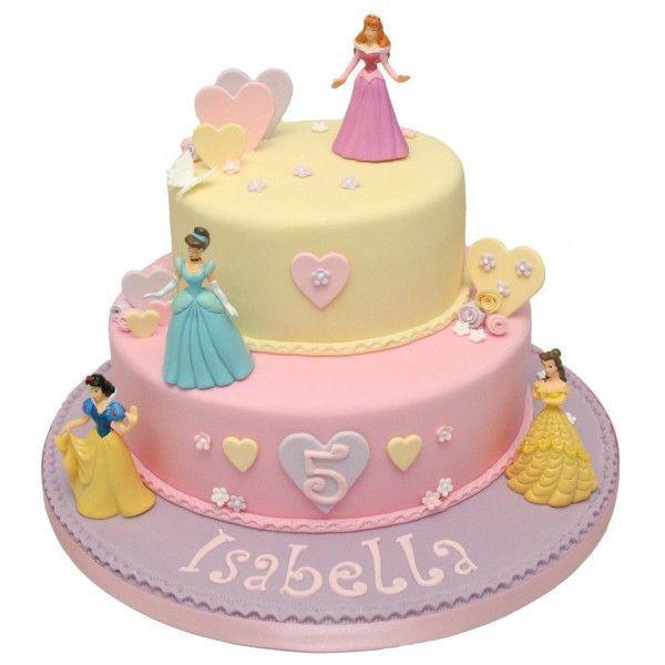 Disney Princess Cake Princess birthday Pinterest