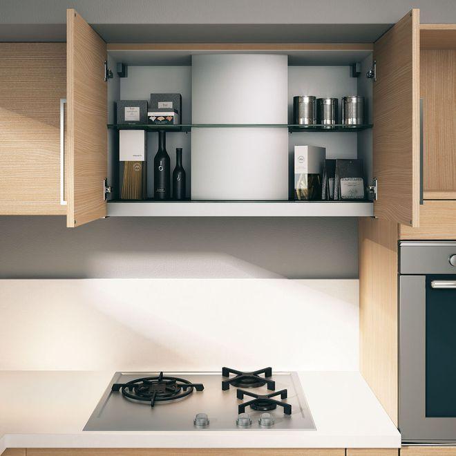 Kitchen Storage Placard Intelligent Autour De La Hotte Meuble Cuisine Decoration Interieure Cuisine Meuble Hotte