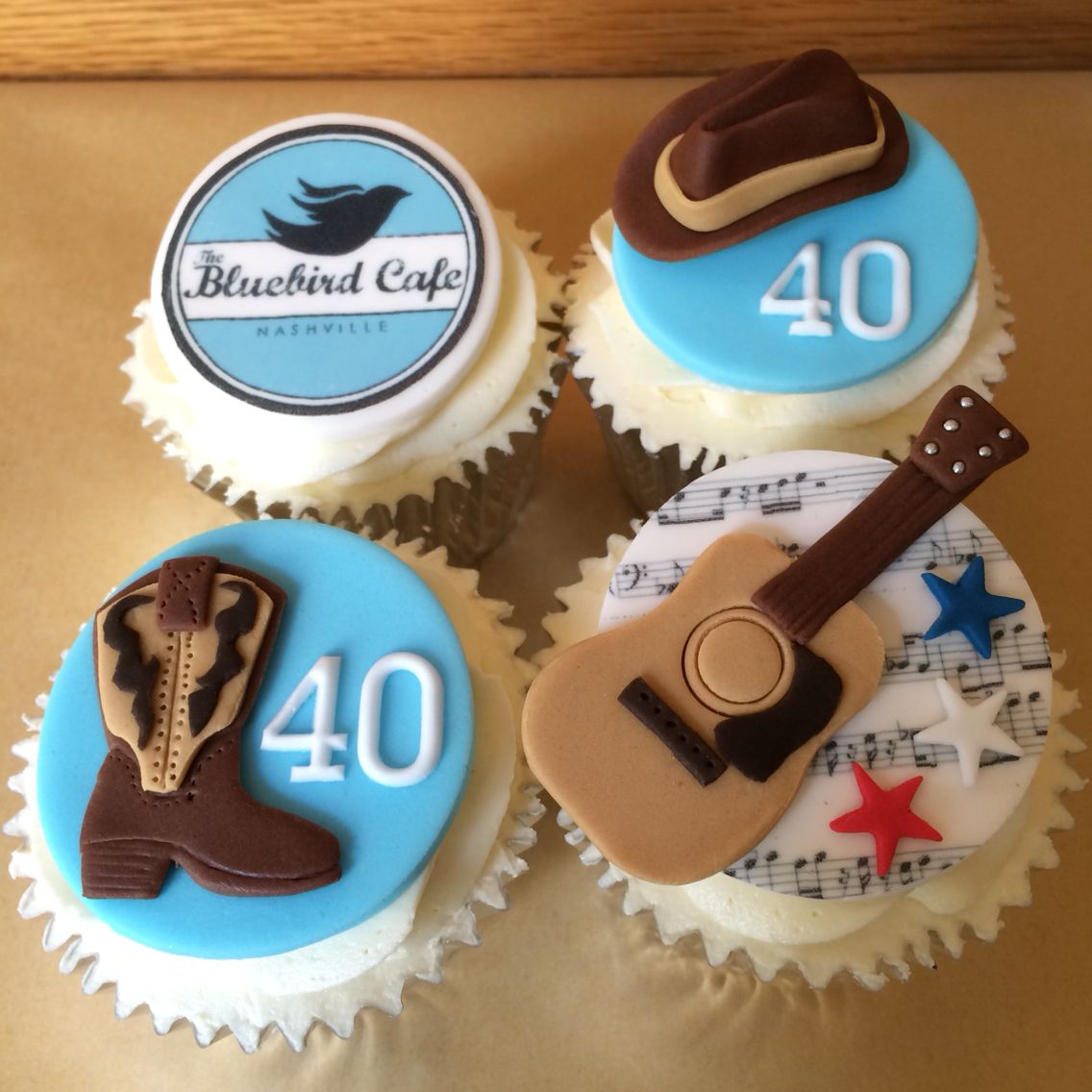 Country Themed Parties Music Nashville Cupcakes Birthday Cakes 40th