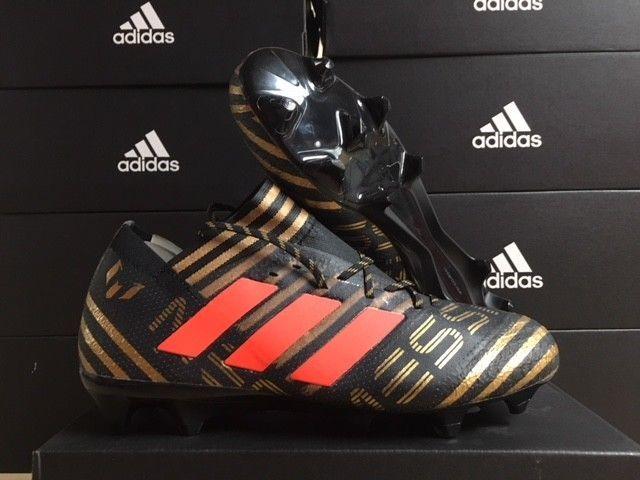 490e1b368 Men's adidas Nemeziz Messi 17.1 FG Cleats Black/Solar Red/Gold Size: 7  #fashion #sporting #goods #teamsports #soccer (ebay link)