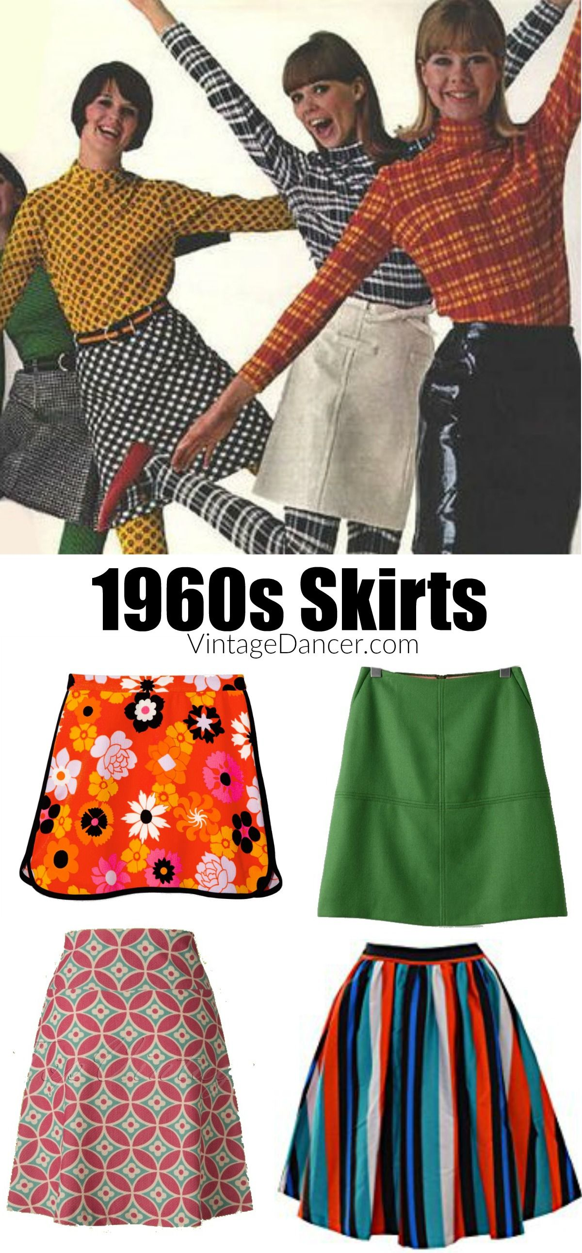 d011837e 1960s skirts, mod skirts, hippie skirts, circle skirts, pencil skirt.  Sixties fashion and more
