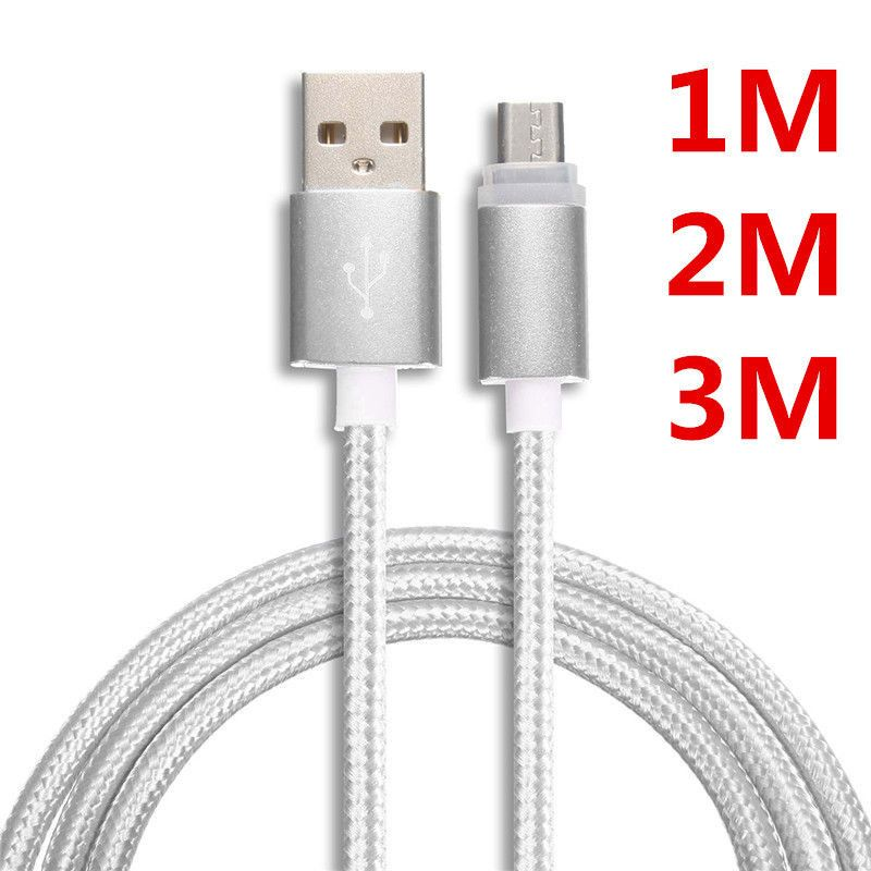 Chargers /& Cables Cables - - 1 x BakeeyT Type-C USB Magnetic Cable Silver USB Type-C 1M Nylon Braided Data Charging Cable for Nexus