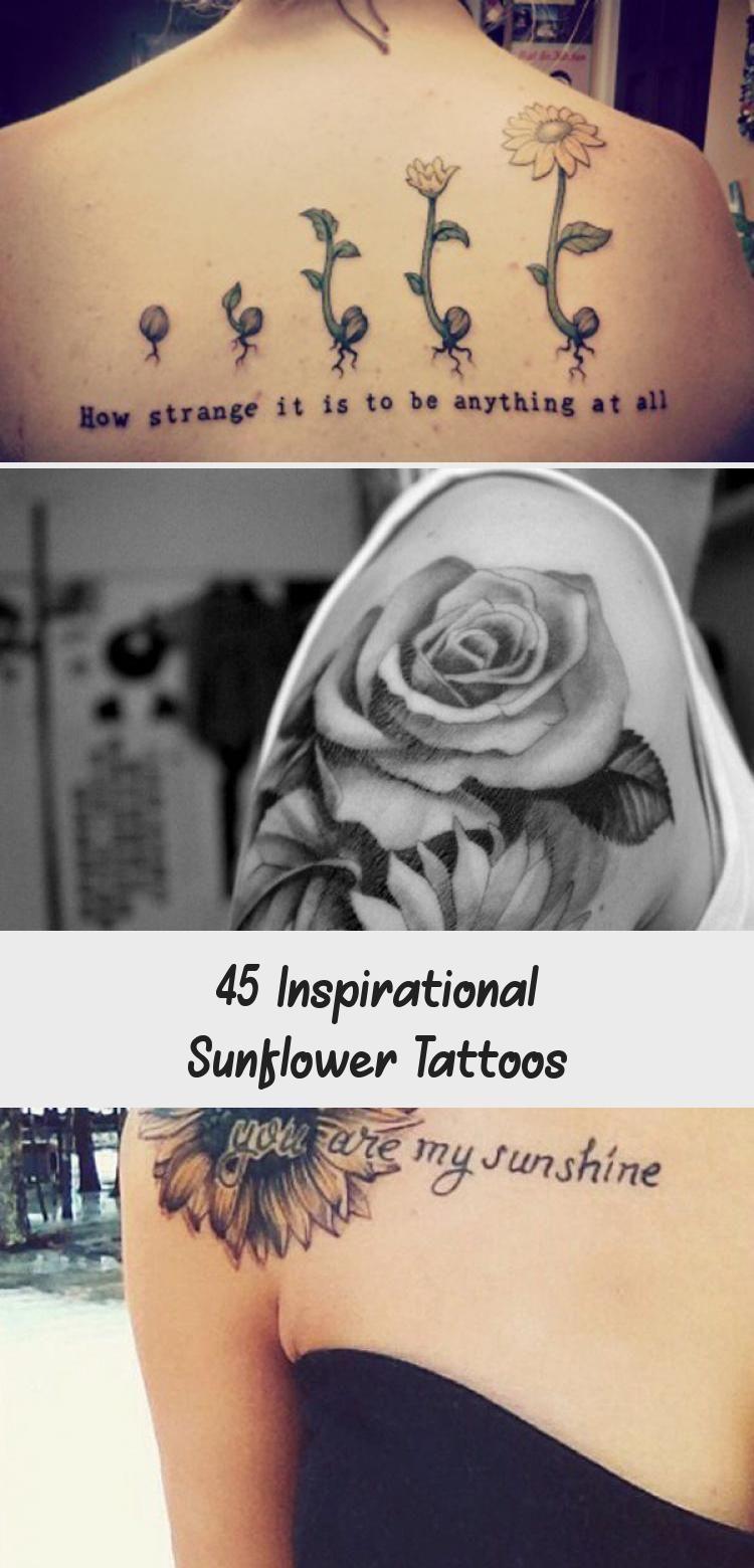 Photo of sunflower tattoo – 45 Inspirational Sunflower Tattoos #Daintysunflowertattoos #s…