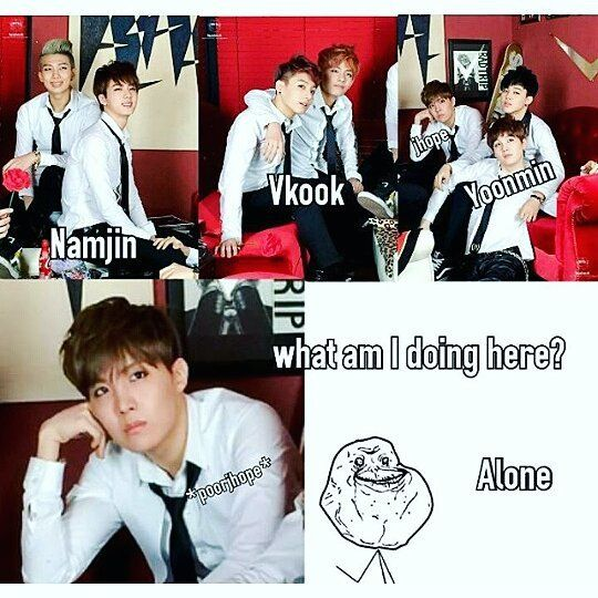 J-Hope, my poor forever third wheeling Baby <3 Don't be sad! ^^
