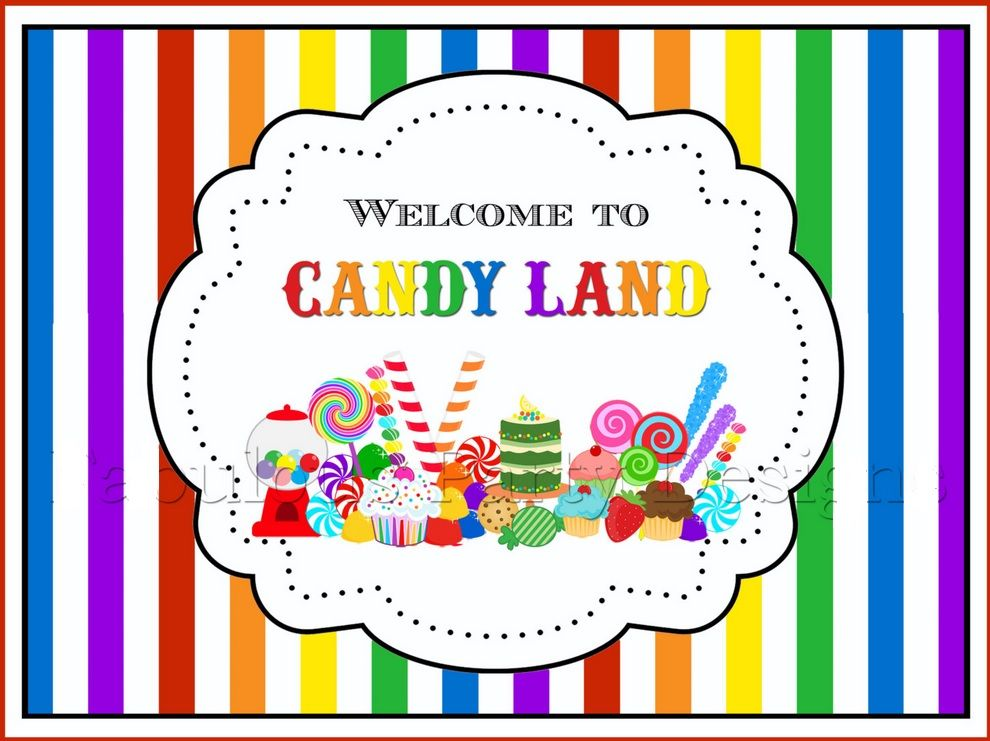 Candyland Birthday Printables image by Terri | Candy ...