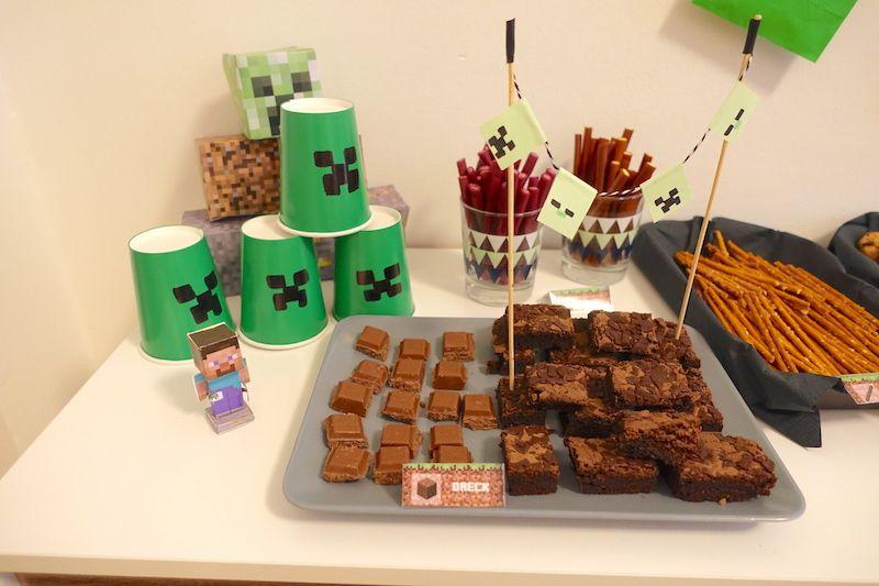 MinecraftParty Zum Kindergeburtstag Mit Deko Spielen Kuchen - Minecraft tnt spielen