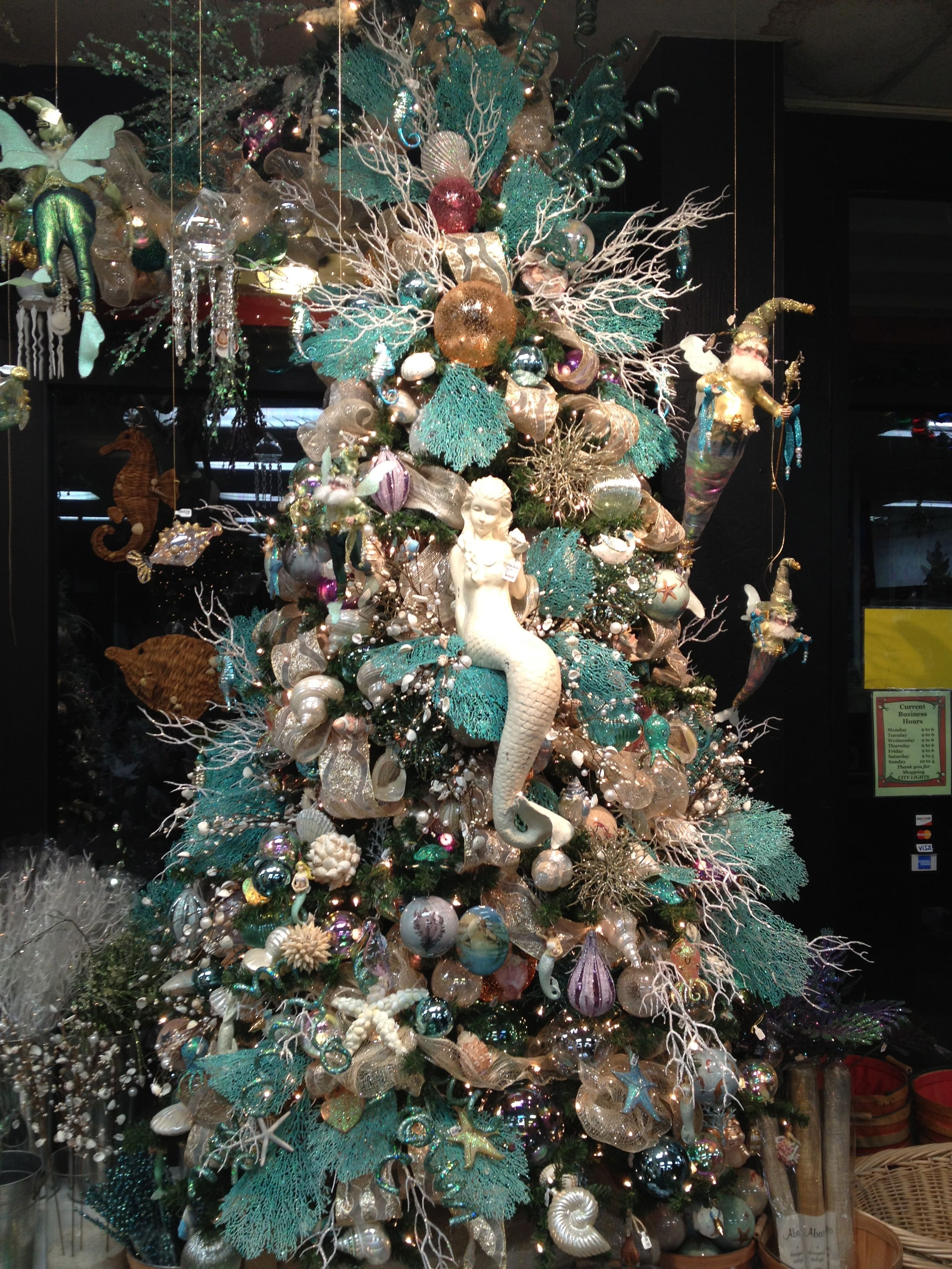 Pin By Theechristianandrew On Christmas Inspirations Around The House Mermaid Christmas Mermaid Christmas Tree Christmas Tree Themes