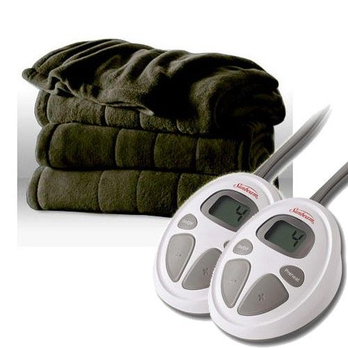 Electric Blanket Sunbeam Heated Microplush Channeled Throw Twin Full Queen King Dekens