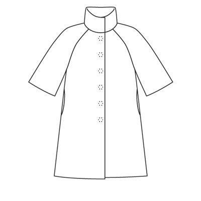 2b5bbd956a2 Пальто - выкройка № 101 из журнала 10 2008 Burda – выкройки пальто на  Burdastyle.ru
