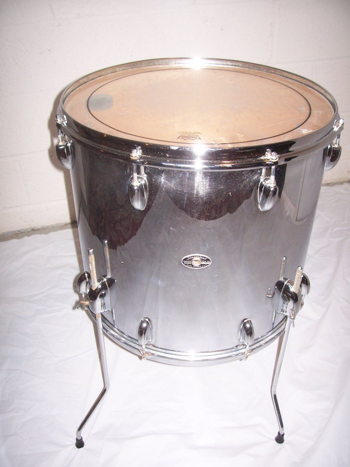 Slingerland 18 X 16 Chrome Floor Tom Chrome Flooring Vintage Drums