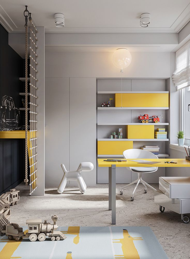 Modernes multifunktionales Kinderzimmer Design in 2020