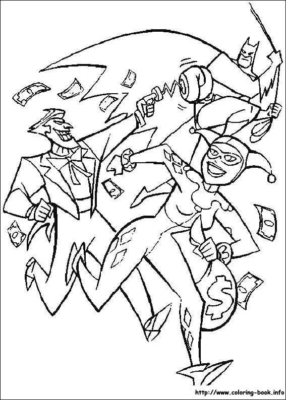 Batman, Joker, Harley Quinn coloring page | Coloring Pages ...