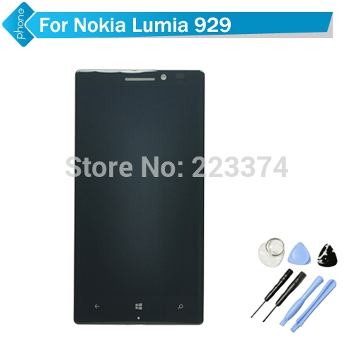115.00$  Watch here - http://alijfr.worldwells.pw/go.php?t=32269006711 - Original For Nokia Lumia 929 LCD Display Touch Screen Digitizer Assembly with frame +Tools Free Shipping