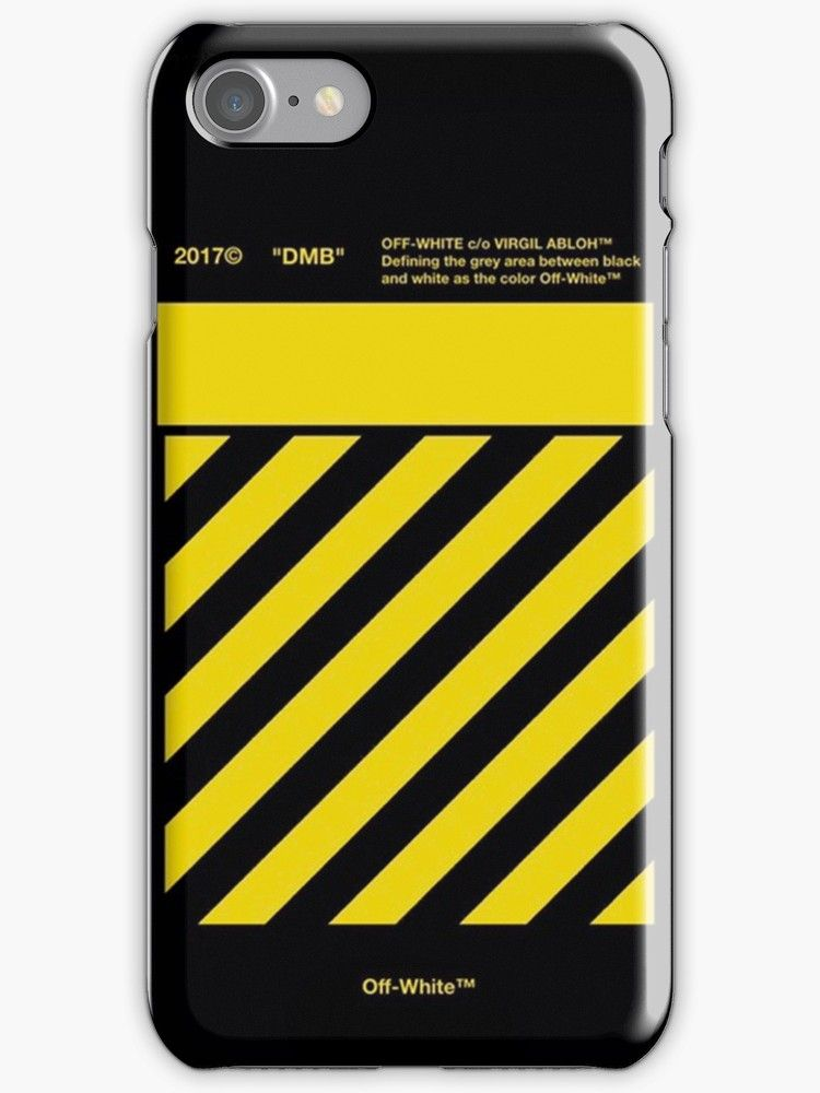 newest 9d222 e33cc Off White Yellow' iPhone Case by MatthewVickers in 2019 | iPhone ...