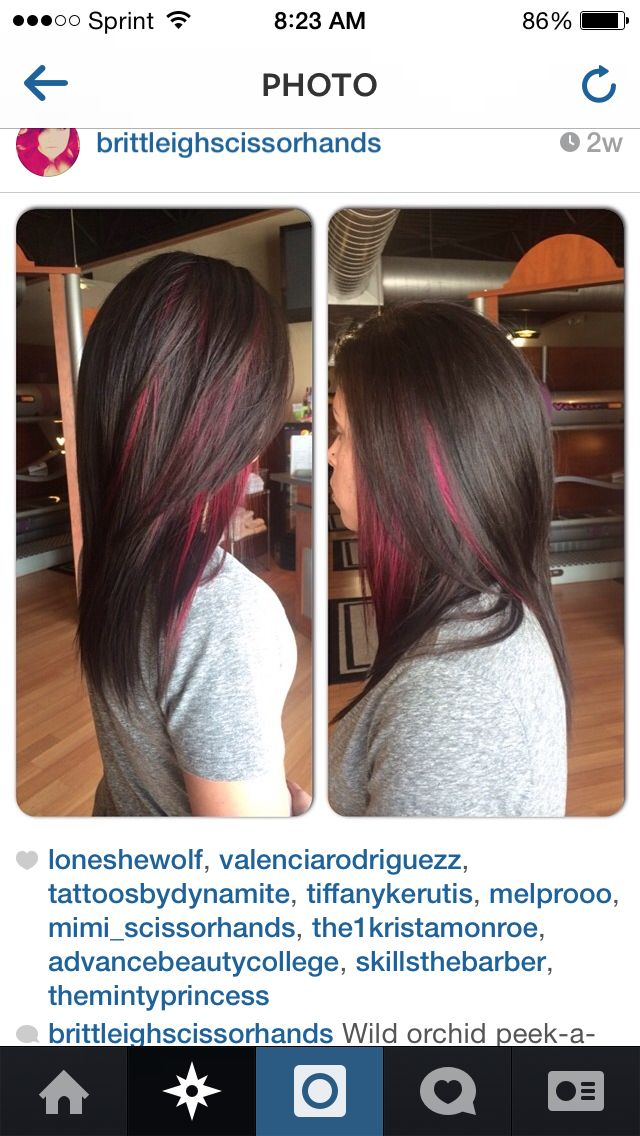 Peekaboo Highlights But In Caramel Or Red All Hair Hair