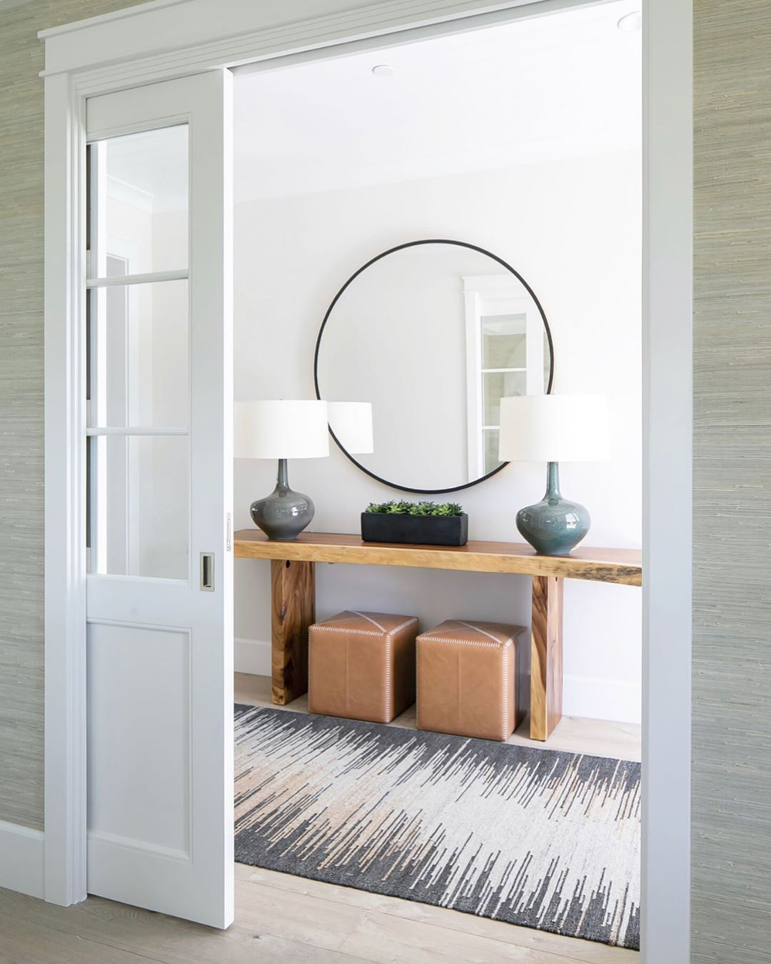 "Brooke Wagner Design on Instagram: ""I love a simple and timeless entry ♡ #entrygoals #interiordesign #neutraldecor #interiorstyled #bwd Builder @marstonbuilders  Architect…"""