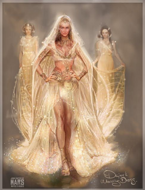An Artists Conception Of Dejah Thoris S Wedding Dress As Worn By